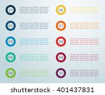number bullet points 1 to 10 a | Shutterstock .eps vector #401437831