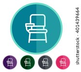 flat icons chair desk for web ... | Shutterstock .eps vector #401439664