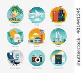 cool vector set of travel... | Shutterstock .eps vector #401441245