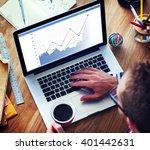 business sales increase revenue ...   Shutterstock . vector #401442631