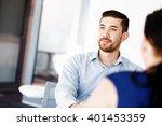 handsome businessman in office | Shutterstock . vector #401453359