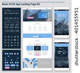 flat design responsive pixel... | Shutterstock .eps vector #401455951