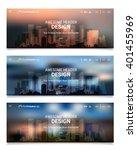 blurred polygonal header slider ...   Shutterstock .eps vector #401455969