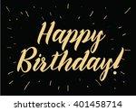 happy birthday inscription.... | Shutterstock .eps vector #401458714