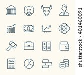 stock exchange line icons   Shutterstock .eps vector #401460091