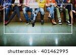 frame blank advertisement... | Shutterstock . vector #401462995