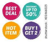 vector stock of best deal  hot... | Shutterstock .eps vector #401466025