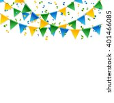 various party streamers falling ... | Shutterstock .eps vector #401466085