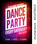 dance party poster event... | Shutterstock .eps vector #401470015