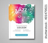 vector musical poster design.... | Shutterstock .eps vector #401470021