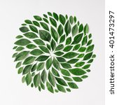 green leaves arranged in spiral ... | Shutterstock . vector #401473297