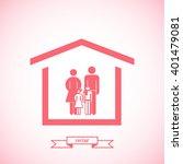 family graphic design   vector... | Shutterstock .eps vector #401479081