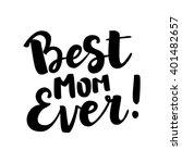 hand drawn brush lettering ...   Shutterstock .eps vector #401482657