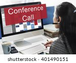 conference call boardroom... | Shutterstock . vector #401490151