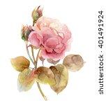 single gentle pink rose... | Shutterstock . vector #401491924