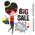 chic girl with glasses holding...   Shutterstock .eps vector #401502307