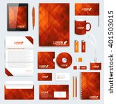 red set of vector corporate... | Shutterstock .eps vector #401503015