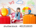 happy child ready for a summer... | Shutterstock . vector #401510035