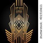 art deco element gatsby design  | Shutterstock .eps vector #401510611
