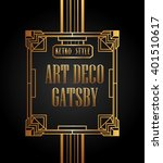 art deco element gatsby design  | Shutterstock .eps vector #401510617
