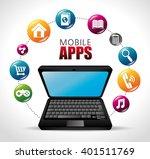mobile apps design  | Shutterstock .eps vector #401511769
