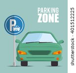 parking zone design  | Shutterstock .eps vector #401512225