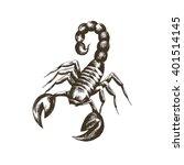 vector sketch of a scorpion in... | Shutterstock .eps vector #401514145
