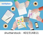 business analytics and... | Shutterstock .eps vector #401514811