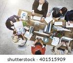 people meeting corporate... | Shutterstock . vector #401515909