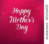 mother's day. vector... | Shutterstock .eps vector #401516425