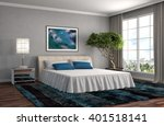 bedroom interior. 3d... | Shutterstock . vector #401518141