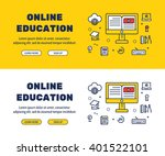 flat line icons design of... | Shutterstock .eps vector #401522101