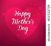 mother's day. vector... | Shutterstock .eps vector #401523739