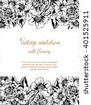 romantic invitation. wedding ... | Shutterstock . vector #401525911