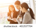 group of business people work... | Shutterstock . vector #401537704