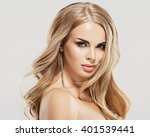 luxury woman portrait with... | Shutterstock . vector #401539441