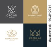 set of  crown logo templates.... | Shutterstock .eps vector #401540764