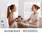 young smiling woman patients... | Shutterstock . vector #401542021
