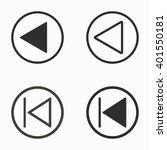 backward   vector icons set.... | Shutterstock .eps vector #401550181