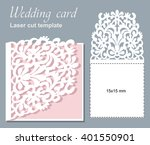 vector die laser cut wedding... | Shutterstock .eps vector #401550901