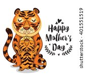 happy mothers day card in... | Shutterstock .eps vector #401551519