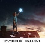 fairy tale  the child hanging... | Shutterstock . vector #401555095