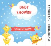 baby shower card. vector... | Shutterstock .eps vector #401558131