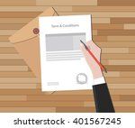 terms and condition... | Shutterstock .eps vector #401567245