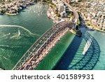 sydney harbour bridge. aerial... | Shutterstock . vector #401589931