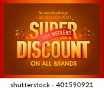glossy 3d text super discount ... | Shutterstock .eps vector #401590921