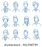 people collection business. set ... | Shutterstock .eps vector #401598799