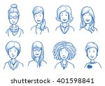 people collection women. set of ... | Shutterstock .eps vector #401598841