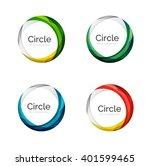 vector swirl set  elegant... | Shutterstock .eps vector #401599465