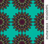 round mandala seamless pattern. ... | Shutterstock .eps vector #401600491